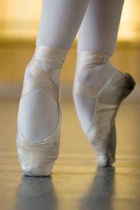 バレエの甲、ポワント